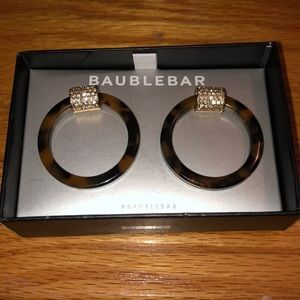 NWT Baublebar Tortoise Hoop Earrings